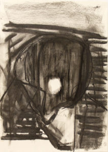 Dead Duck (2016) 42 x 29.5 cm Charcoal on Paper