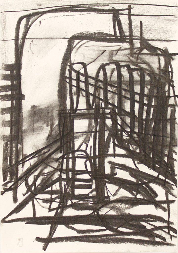 Stump (2016) 42 x 29.5 cm Charcoal on paper