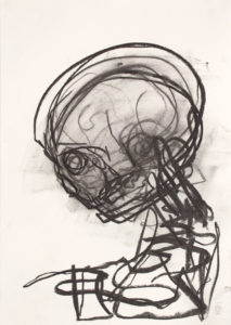 Head (2016) 42 x 29.5 cm (16.5 x 11.6 in.) Charcoal on paper Michael Markwick