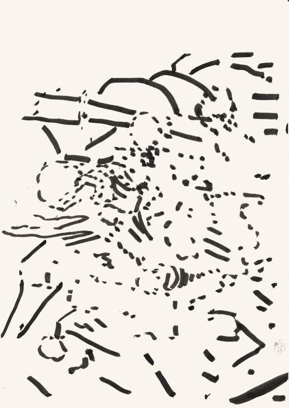 Ohne Titel. (2015) 29,7 x 21 cm . Stift auf Papier