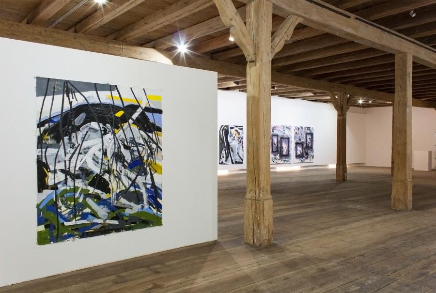 Exhibition View 2015 (Left to right: Michael Markwick x 2, Robert Gfader ) ROBERT GFADER / MICHAEL MARKWICK / ROBERT MUNTEAN Kunstverein Steyr / Schloss Lambert Blumauergasse 4 4400 Steyr
