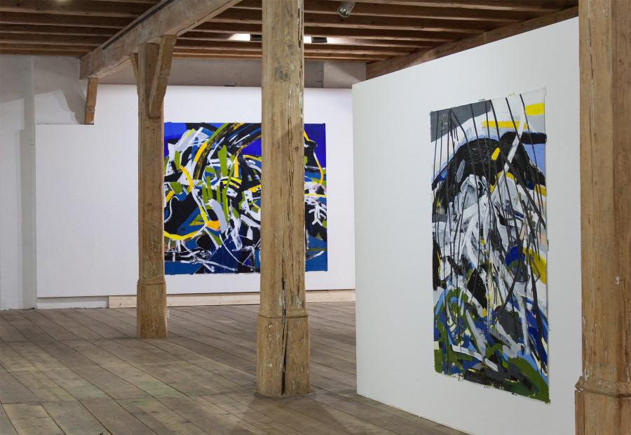 Exhibition View 2015 ROBERT GFADER / MICHAEL MARKWICK / ROBERT MUNTEAN Kunstverein Steyr / Schloss Lambert Blumauergasse 4 4400 Steyr