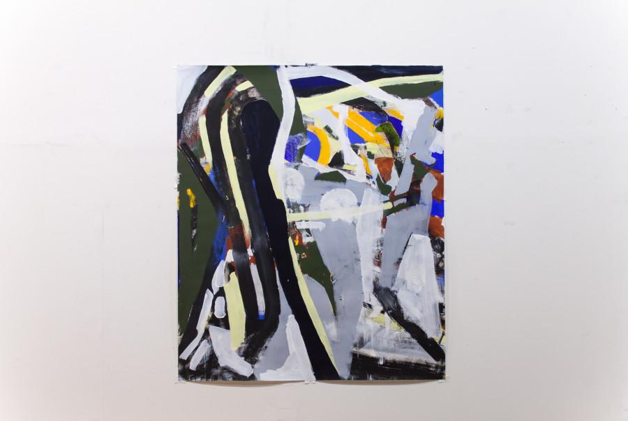 Fractured View (2013) MARKWICK 182 x 152 cm Synthetic polymer paint and pigment on paper ROBERT GFADER / MICHAEL MARKWICK / ROBERT MUNTEAN Kunstverein Steyr / Schloss Lambert Blumauergasse 4 4400 Steyr