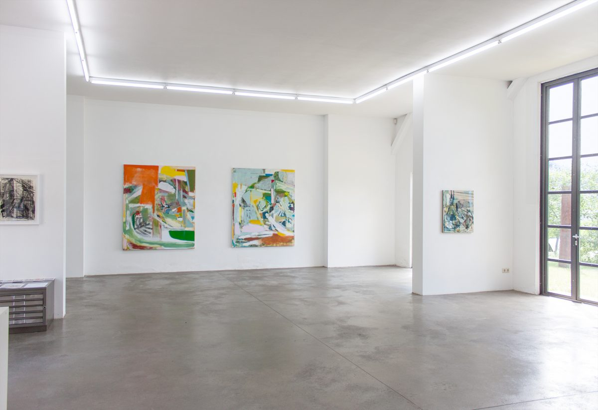 Galerie Born, Berlin. Michael Markwick; New Paintings 2017. Projektraum heiddorf