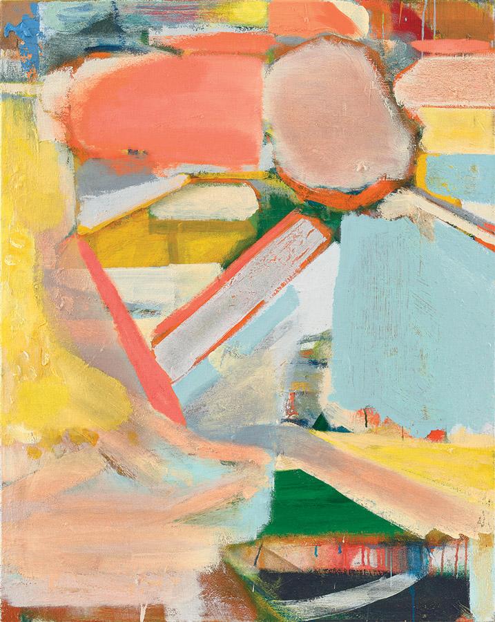 Michael Markwick, Shifting Sky, 2018 Acryl auf Leinwand, 95 x 120 cm Acrylic on linen, 37,4 x 47,2 inchesfoto: Eric Tschernow