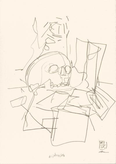 Gijsbrechts, 2018 Bleistift auf Papier, 29,5 x 20,8 cm Pencil on paper, 11,6 x 8,2 in.