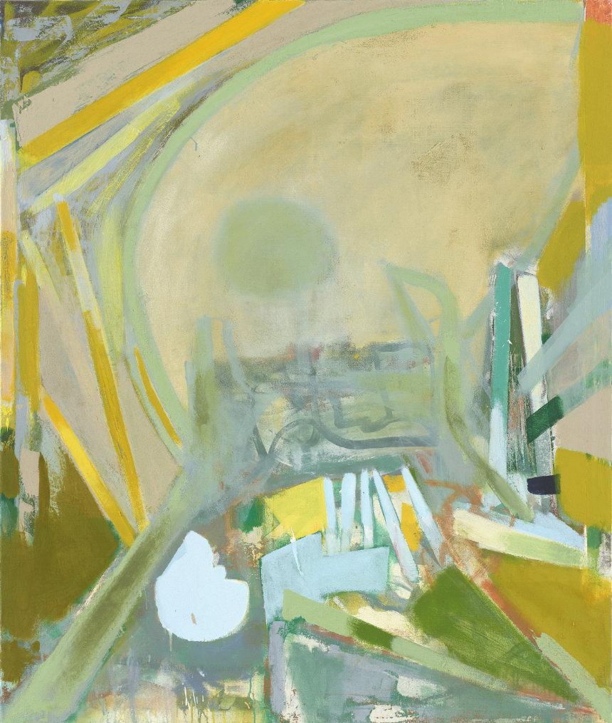 Ghost Stump (2019) 170 x 145 cm (67 x 57 in.) Acrylic, pigment on linen Photo: Eric Tschernow