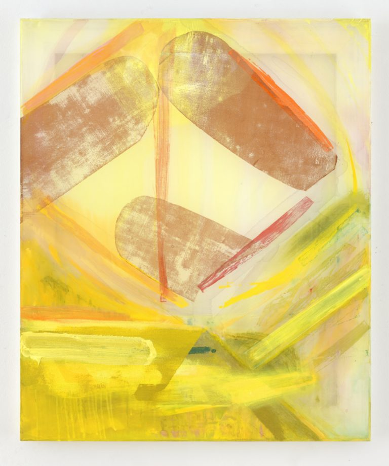 Painting by Michael Markwick Kite in Solar Wind (2020) 90 x 75 cm (35 7/16 x 29 1/32 in.) Acrylic on silk