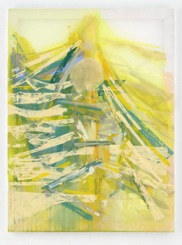 Michael Markwick. Tree Hugger (2020) 160 x 120 cm (63 x 47 1/4 in.) Acrylic on silk