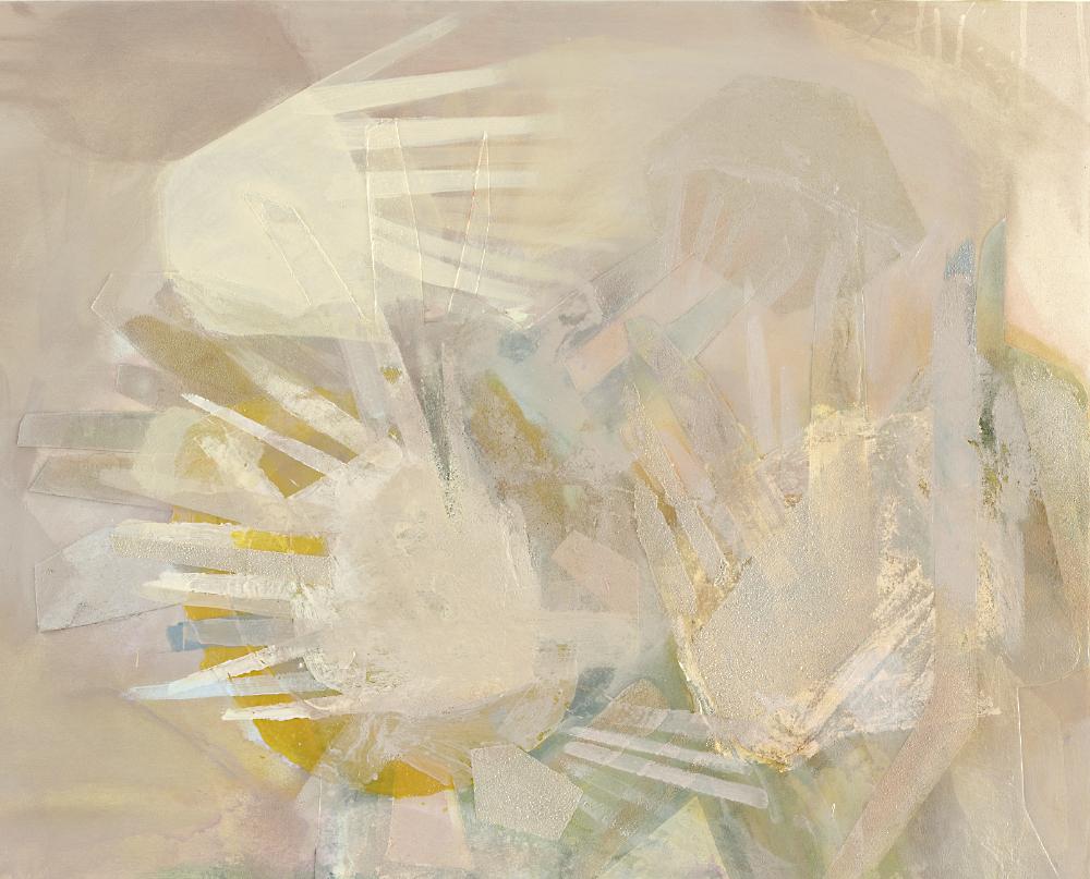 Dusk (2021) 145 x 120 cm Acrylic, Pigment and Sand on canvas