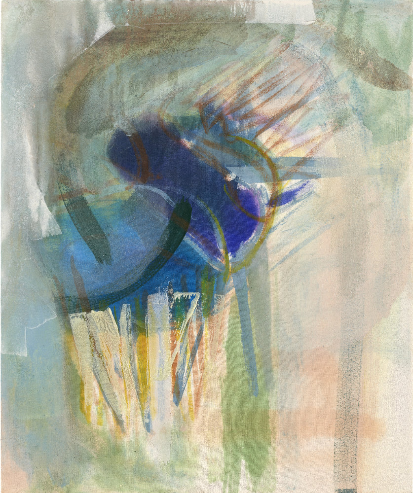 Painting by Michael Markwick Perseverance (2021) Acrylic and pigment on Raw Silk 60 x 50 cm (23 1/2 x 19 7/10 in)