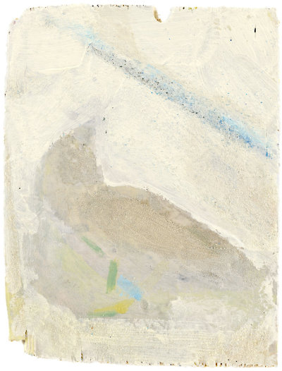 Sparrow, 2021, Acrylic, pigment, and sand on wood, 20 x 16 cm ( 7 9/10 x 6 3/10 in.)