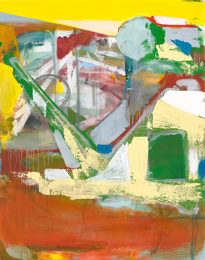 The Slide (2017) 140 x 110 cm (55 x 43 in.) Acrylic on linen Michael Markwick